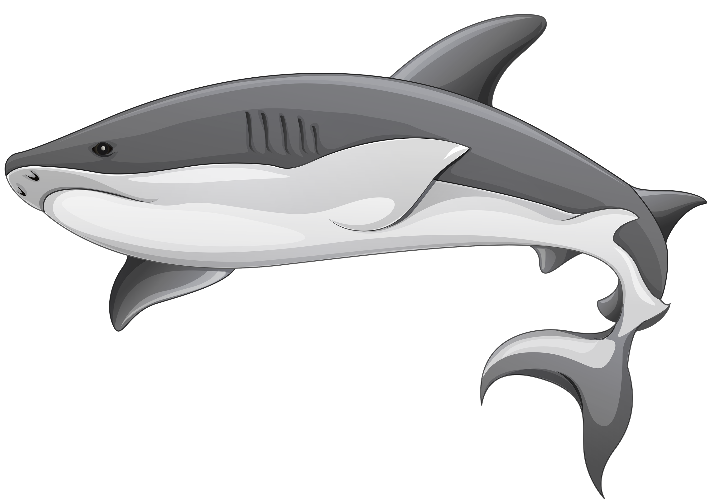 Shark clipart great white shark cartoon style