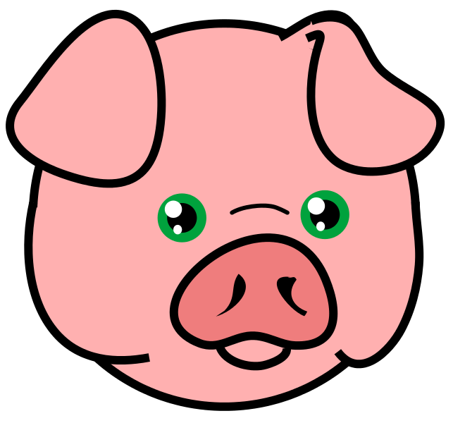 Silhouette pig clipart pig animal clip art 2