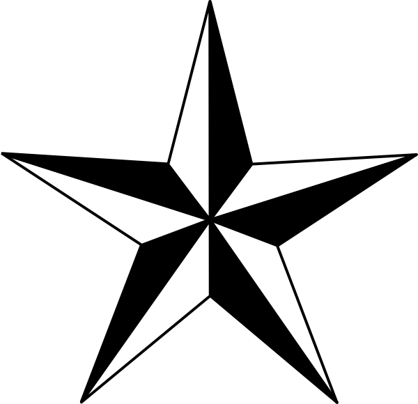 Star outline 1 2