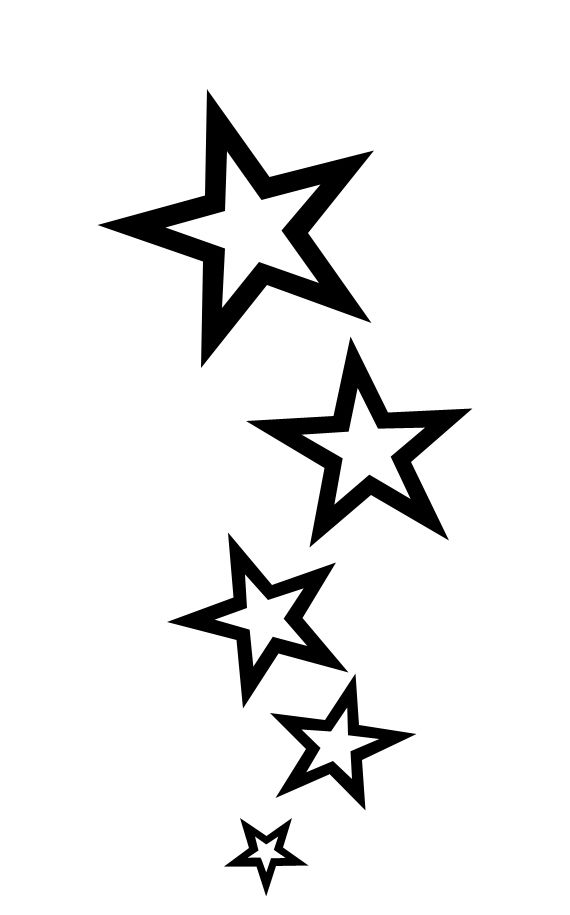 Star outline outline star tattoo designs