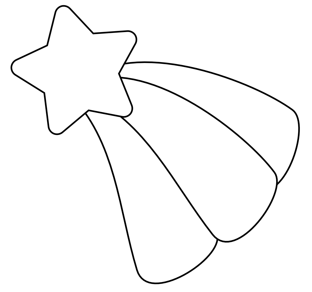 Star outline shooting star clip art outline free clipart images