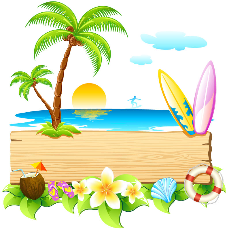 Summer clipart backgrounds free images