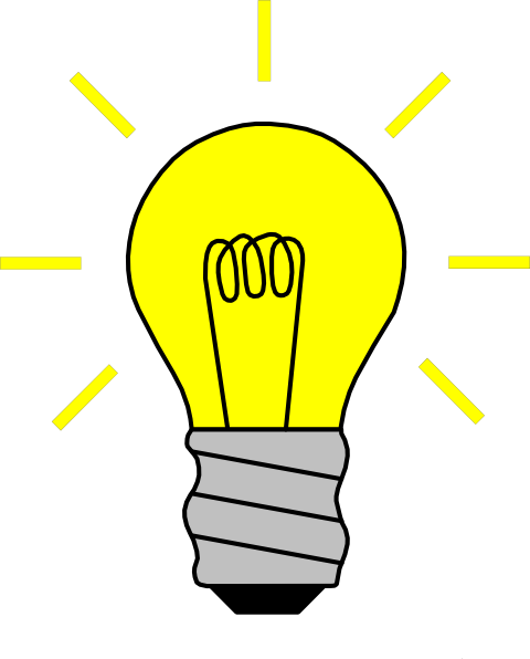 Thinking light bulb clip art free clipart images 2