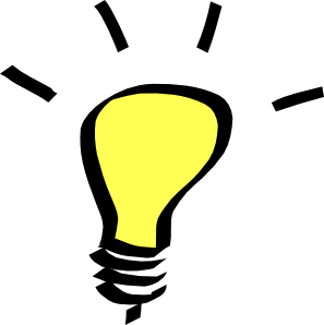 Thinking light bulb clip art free clipart images 3