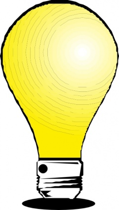 Thinking light bulb clip art free clipart images 6