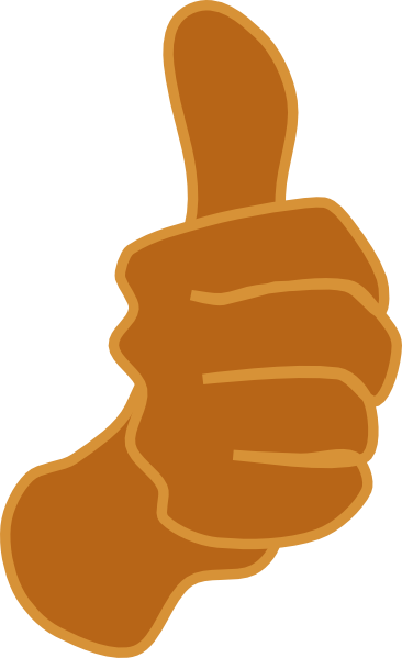 Thumbs up brown clip art at vector clip art