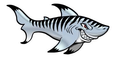 Tiger shark clip art free clipart images