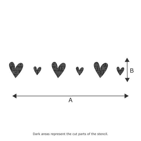 Vintage heart border stencil nursery child'room designs