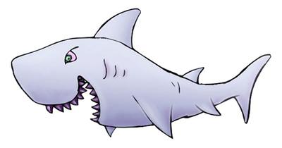 White shark clip art gallery