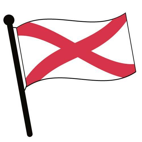Alabama waving flag clip art american pictures