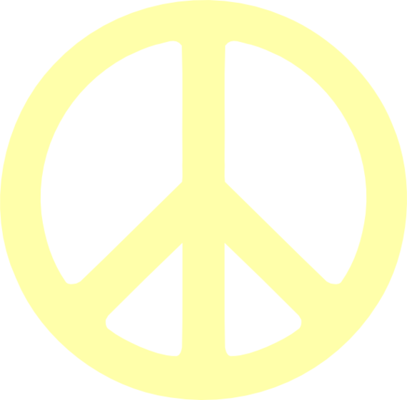 Blue peace sign clip art at vector
