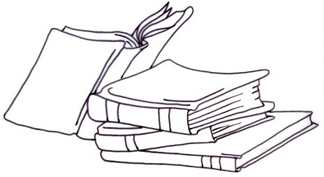 Cartoon stack of books clipart 3