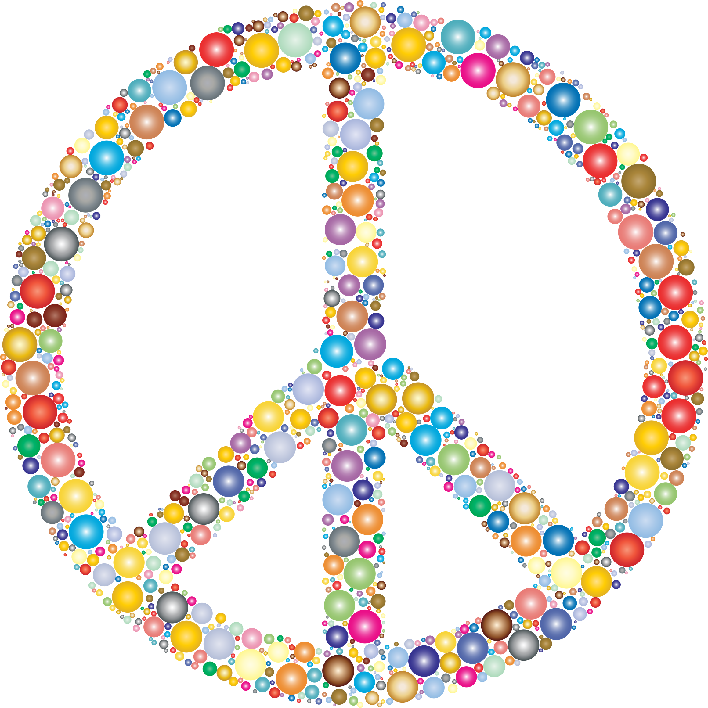 Clipart colorful circles peace sign 3