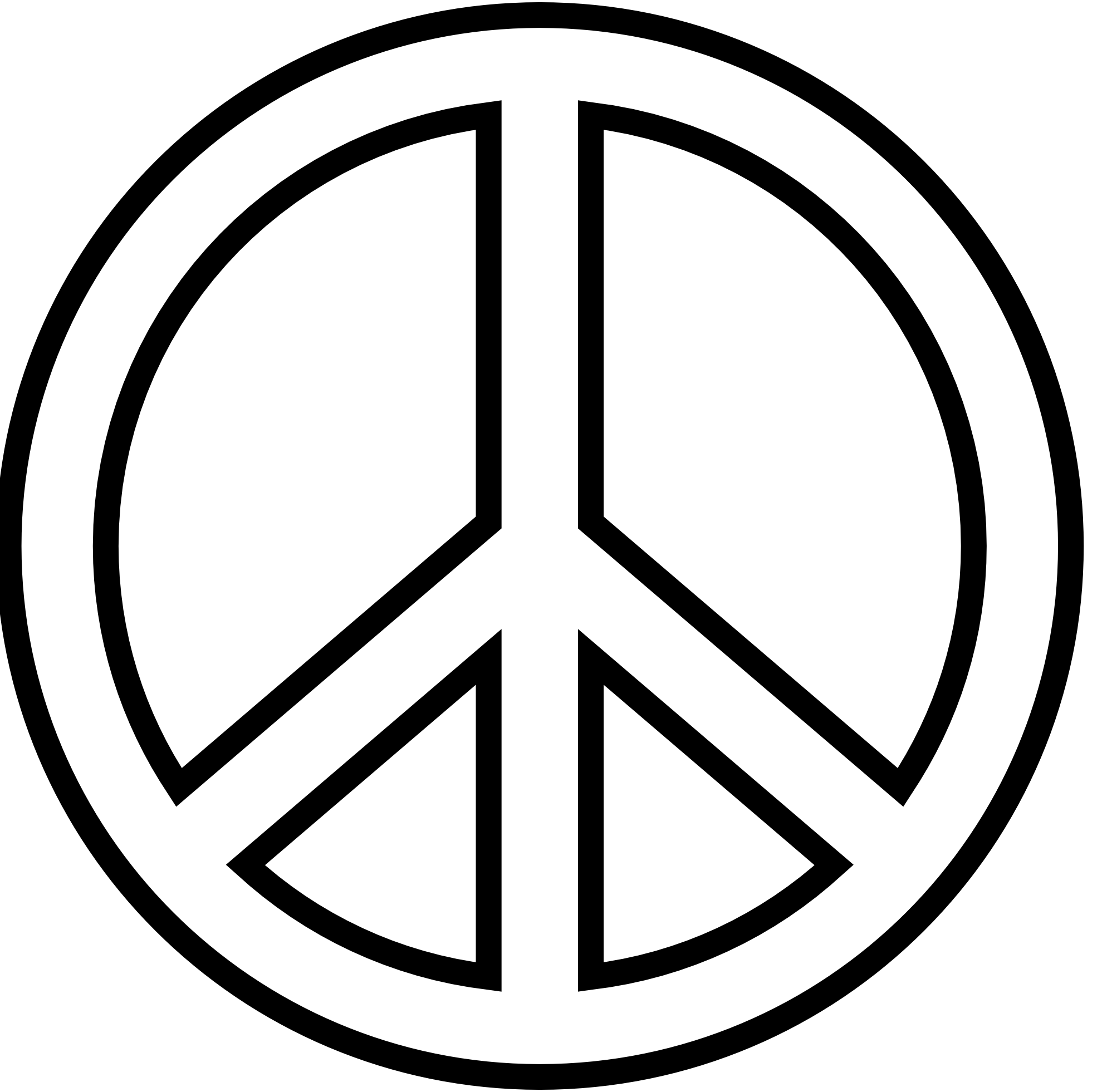 Clipart peace sign love