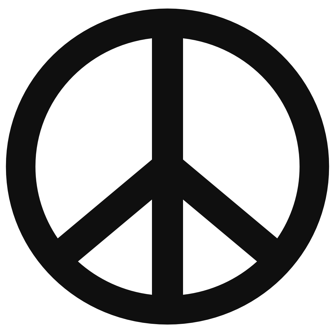 Clipart peace sign