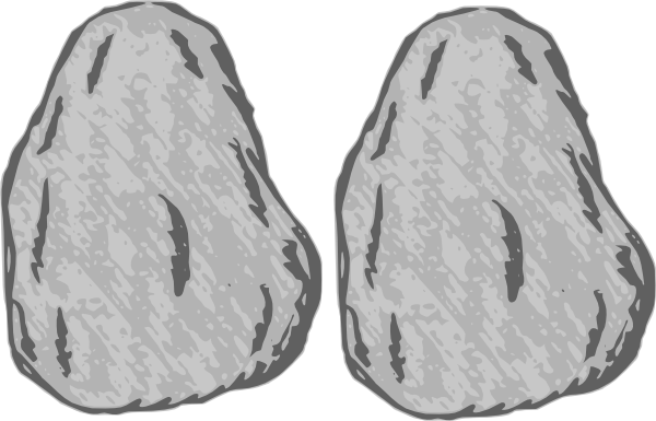 Curling rock clipart