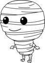 Cute halloween mummy clip art free clipart images