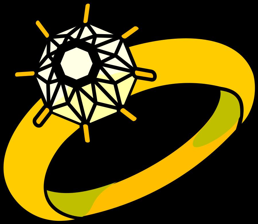 Engagement ring clip art rings