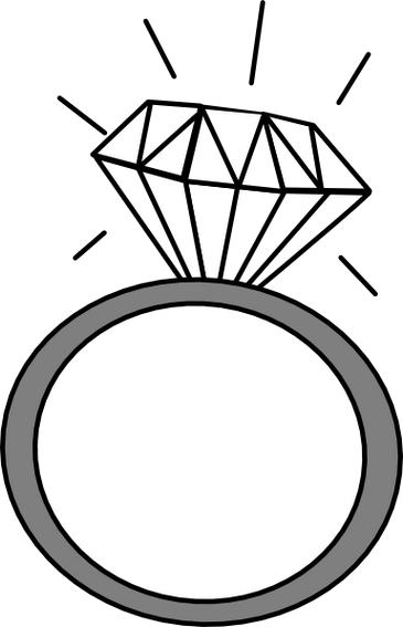 Engagement ring clipart 2
