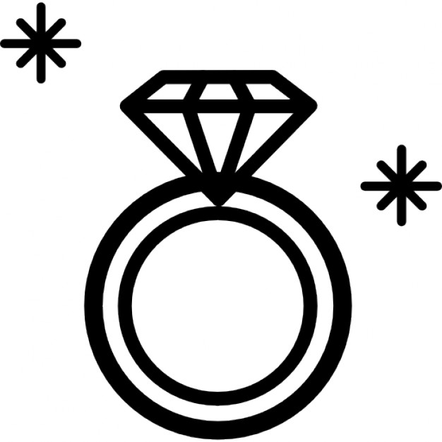 Engagement ring diamond ring engagement outline clip art 2 lettering plays