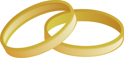Engagement ring linked wedding rings clipart free images 2