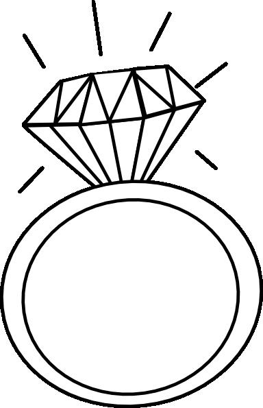 Engagement ring outline clip art 2 lettering art