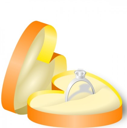 Engagement ring wedding ring engagement cartoon clip art 9 rings