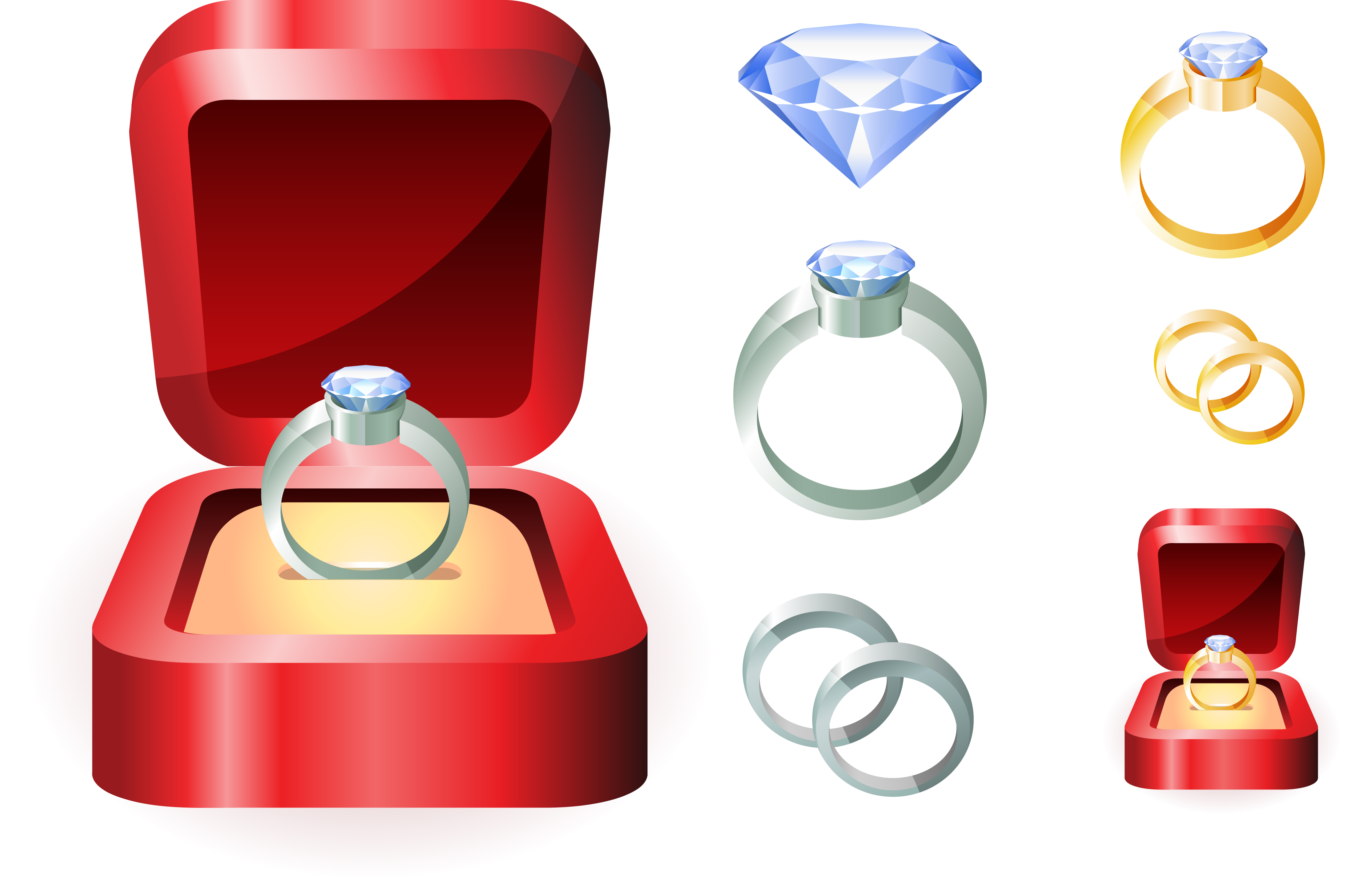 Engagement ring wedding ring engagement clip art rings 3