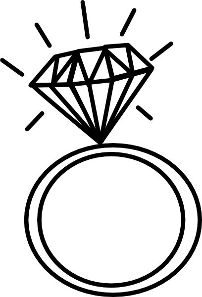 Engagement ring wedding ring engagement graphic rings clipart 2