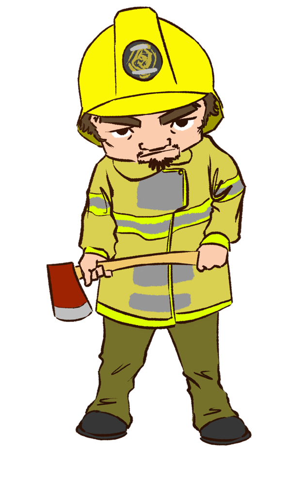 Fireman cute firefighter clipart free images image