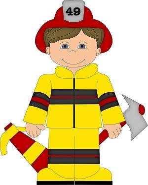 Fireman firefighter clip art images on