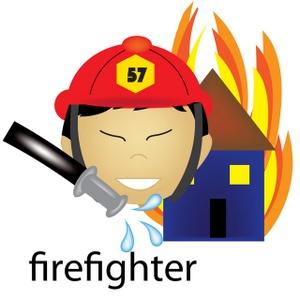 Fireman firefighter clip art vector free clipart images