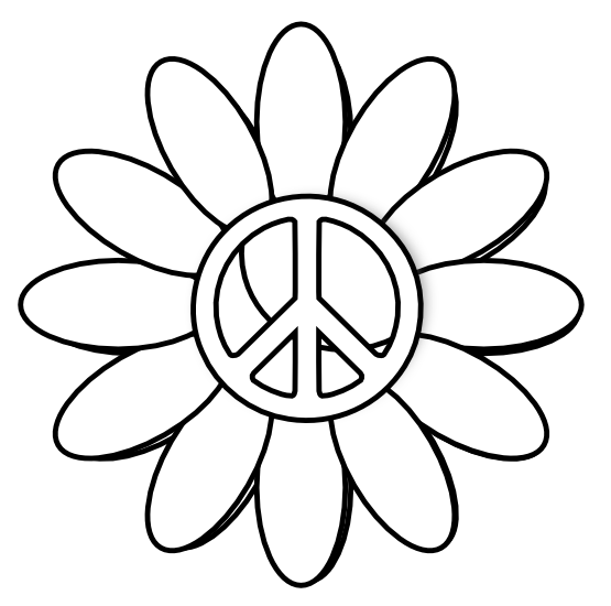 Free clip art peace sign clipart