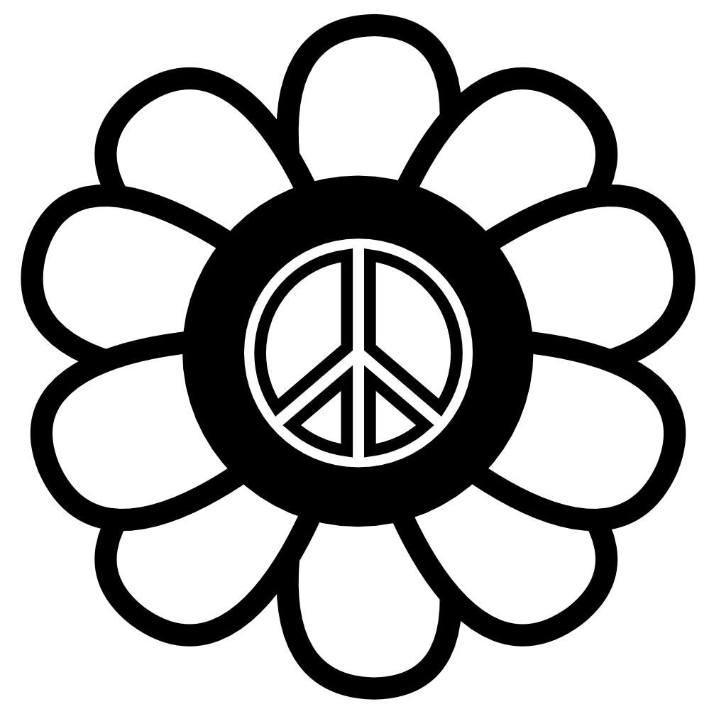 Free peace sign clipart 8