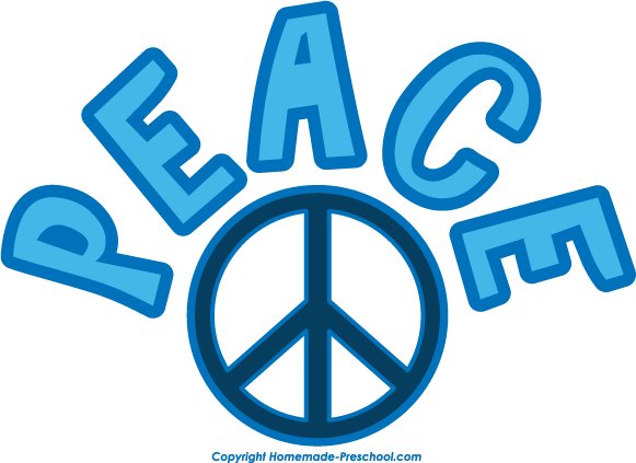 Free peace sign clipart image