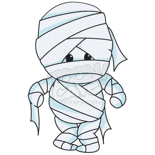 Halloween mummy clipart 6