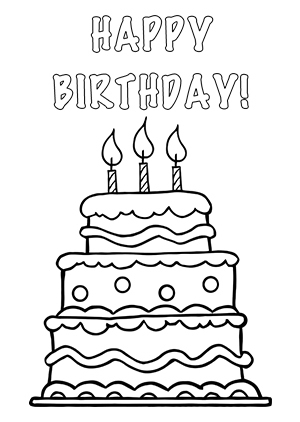 Happy birthday  black and white birthday black and white happy birthday clipart 2 3