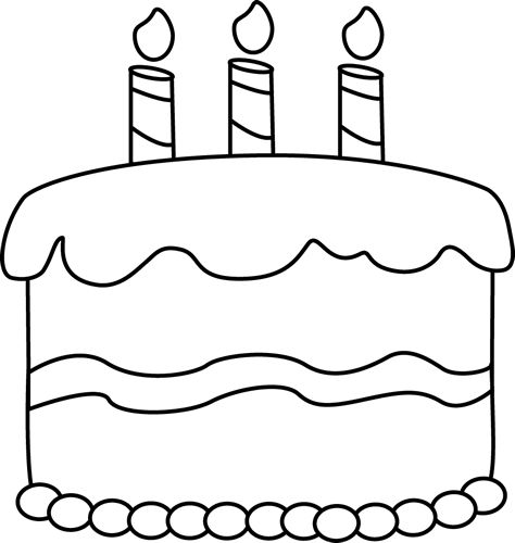 Happy birthday  black and white birthday black and white happy birthday clipart 3 3