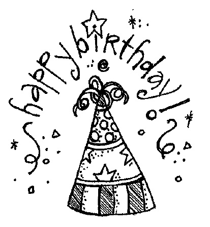 Happy birthday  black and white birthday black and white happy clipart clipart