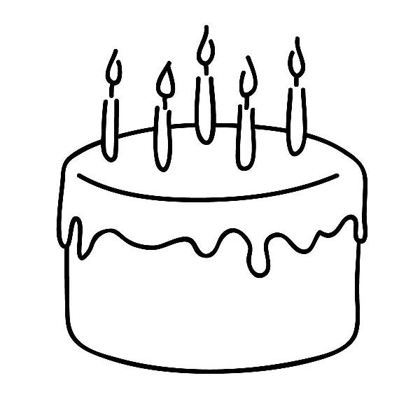 Happy birthday  black and white birthday cake clip art free black and white clip art to cut
