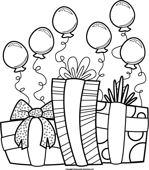 Happy birthday  black and white birthday clip art black and white 3