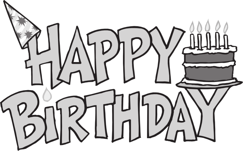 Happy birthday  black and white birthday clip art black and white 4