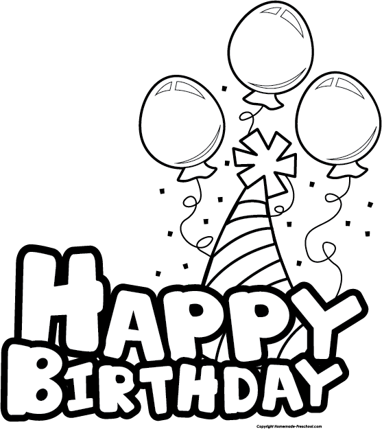 Happy birthday  black and white birthday clip art black and white schliferaward 2