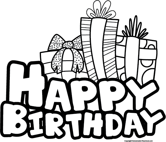 Happy birthday  black and white birthday clip art black and white