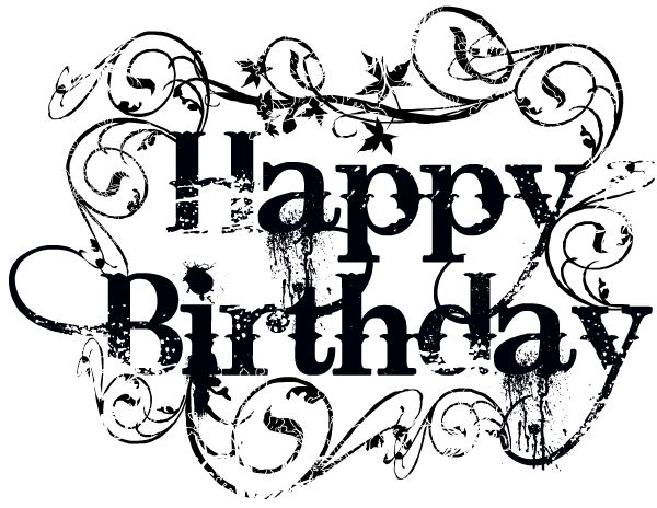Happy birthday  black and white birthday clipart ideas on