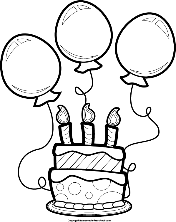 Happy birthday  black and white free black and white birthday clip art