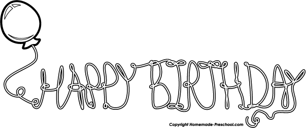 Happy birthday  black and white happy birthday balloons clip art black and white imgflash