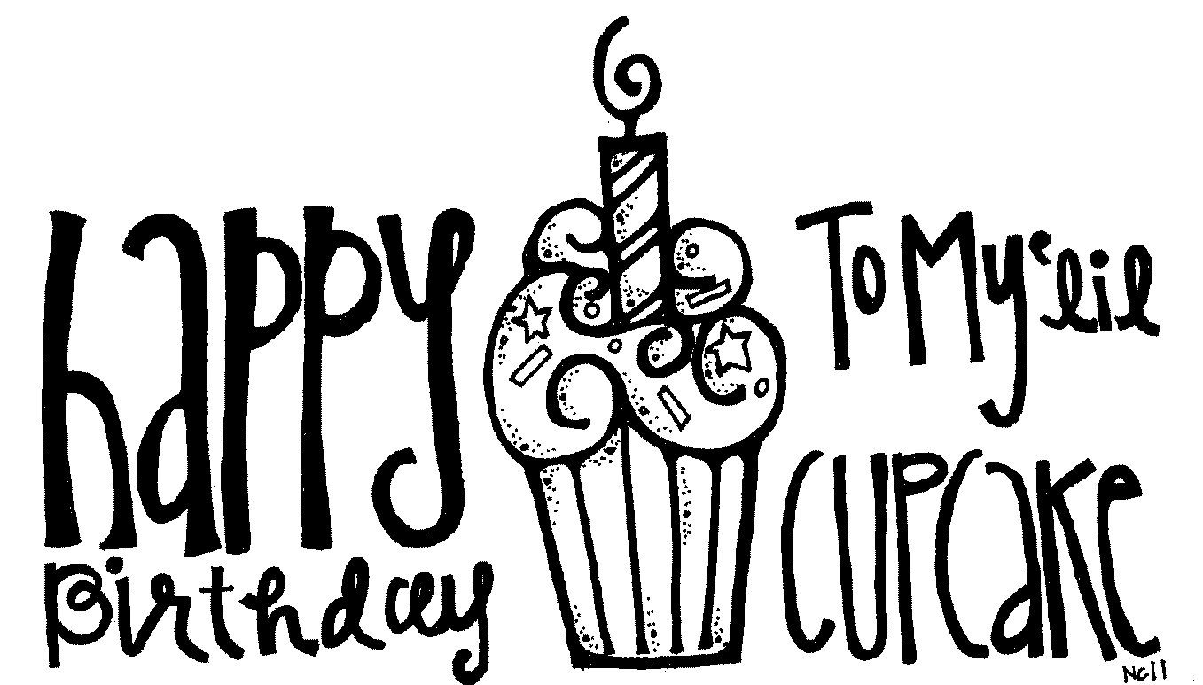 Happy birthday  black and white happy birthday cake clipart black and white free