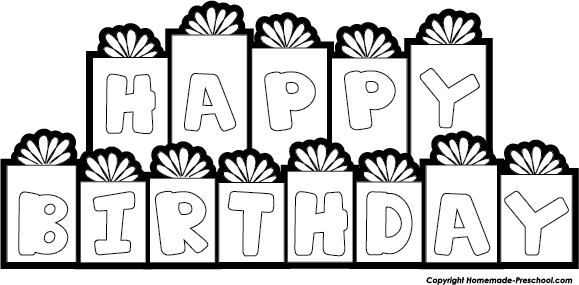 Happy birthday  black and white happy birthday clip art black and white schliferaward 2