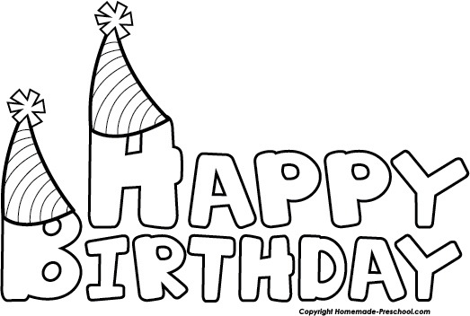 Happy birthday  black and white happy birthday clip art black and white schliferaward